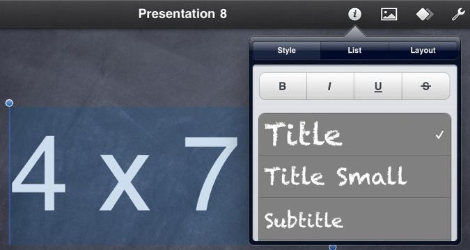 Keynote   Homeschool tablet