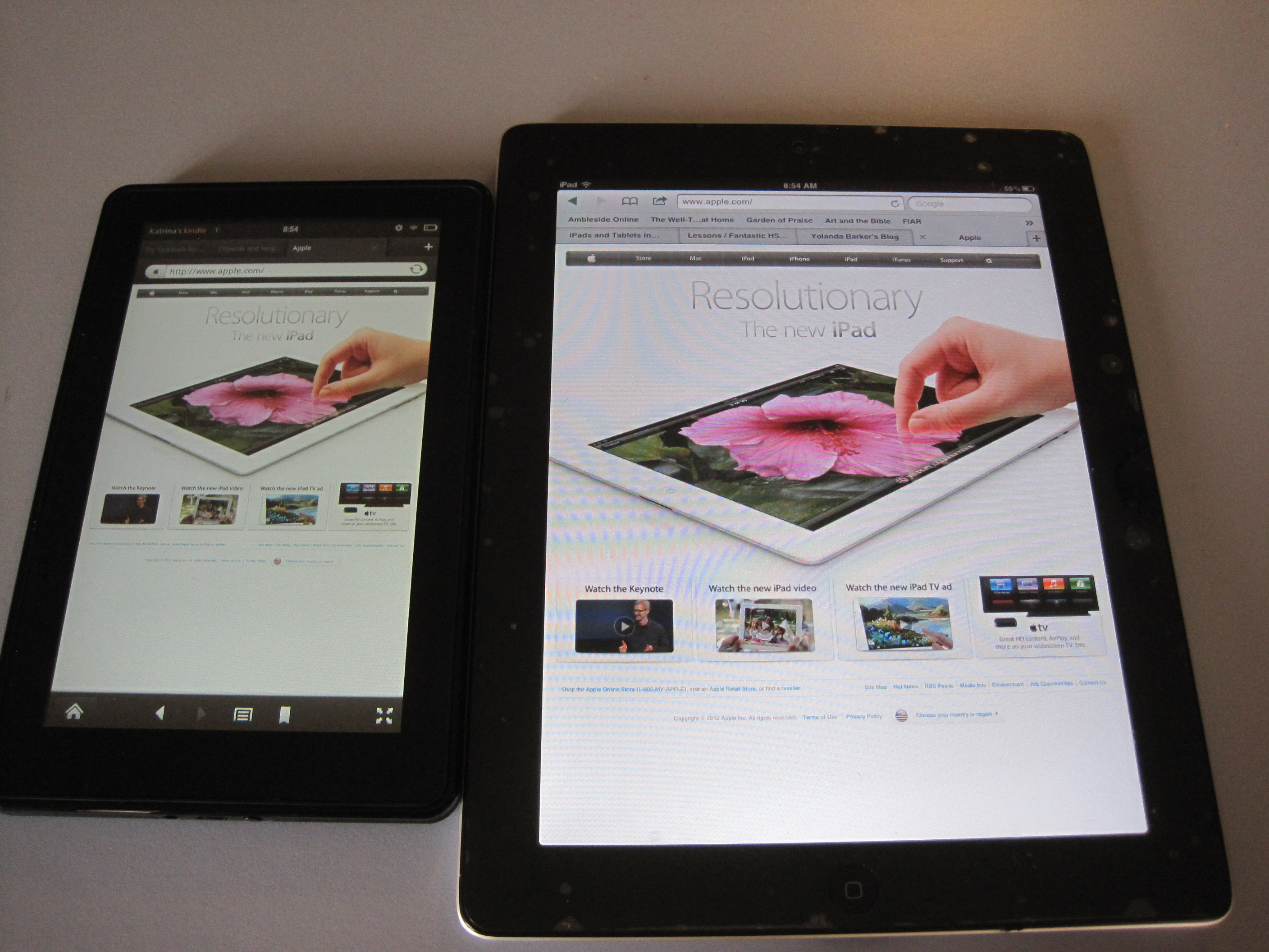 iPad vs. Kindle Fire