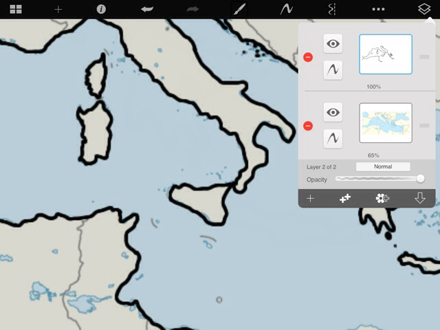 Ipad drawing app to create outline maps homeschool tablet 20140210 234306g gumiabroncs Gallery